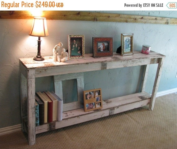 Sofa Tables On Sale: SALE Rustic Sofa Table In Farmhouse White By