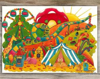 Original illustration circus