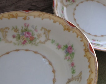 Vintage Noritake Soup or Cereal Bowls Vintage Dinnerware Eight (8) Circa 1930s