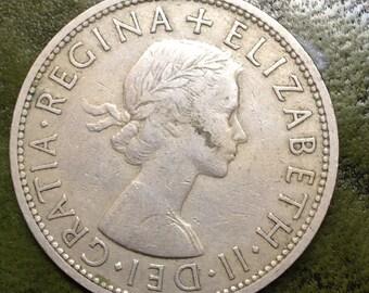 Queen Elizabeth II Half Crown Dated 1960