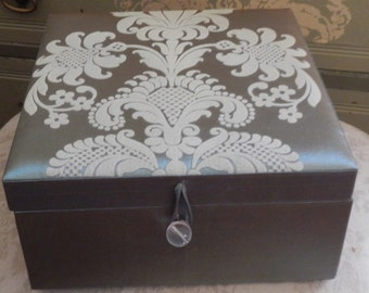 Pretty Satin Trinket Box!