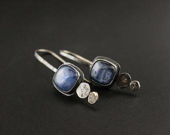 Kyanite Pebble Earrings