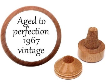 Customize For Any Year. 50th birthday gift idea for him her men women. Gift for 50 year old. Bottle stopper.