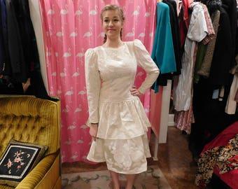 1980's Scott McClintock  White dress