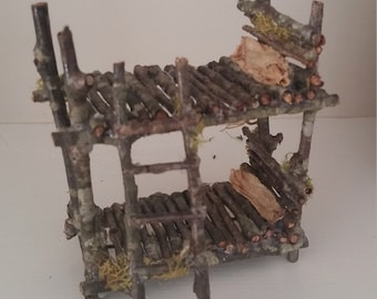 Fairy garden bunk bed handmade