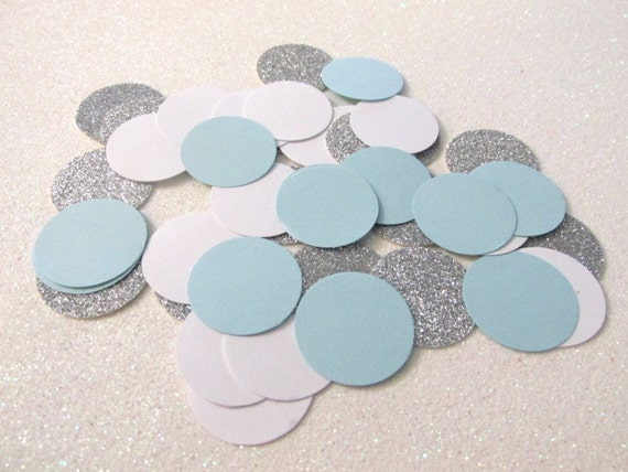 225 Light Blue Silver Confetti Light Blue Birthday Decorations Boy