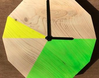 Dodeca Wall Clock (Green/Yellow)