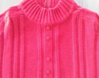 Vintage Tami Short Sleeved Red Sweater Made in British Hong Kong