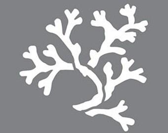"""6"""" x 6"""", Coral Stencil, Americana Decor"""