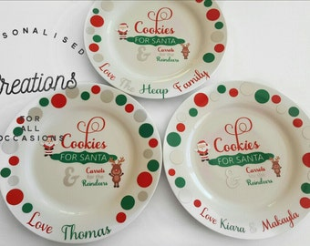 Personalised Cookies for Santa PLATE ONLY *International Shipping Available!!!