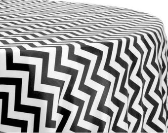 Captivating Black And White Tablecloth, Zig Zag Black And White Tablecloth, Chevron  Tablecloth, Black