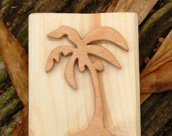 Tropical Palm tree SOAP stamp