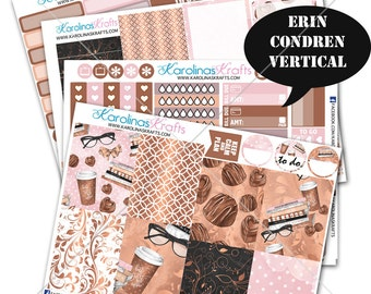 Coffee Shop Stickers, Coffee Planner Kit 200+ studying Planner Stickers, for Erin Condren Sticker, Nerdy Stickers #SQ00018-ECV