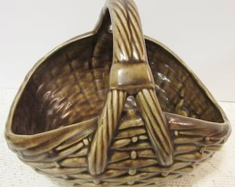 Sale Basket Glazed Home Decor Centerpiece Ceramic Pottery Porcelain Handmade