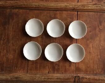 White Porcelain Butter Pats