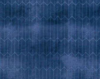 Chalk Lines Blue Cotton Woven - Dapper by Tim Holtz