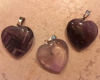 Amethyst Heart Pendant/Talisman - Free Domestic Shipping