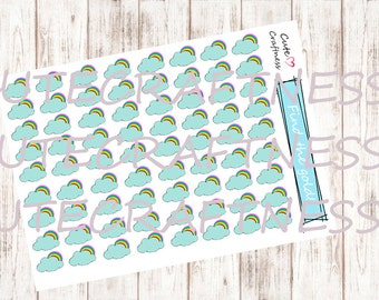 Weather rainbow stickers perfect for your planner