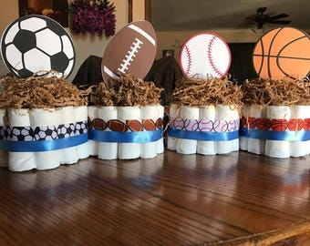 Sports Birthday Party - Soccer Centerpieces - Football Decoration - Basketball Party - Sports Party