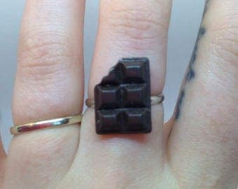 Half eaten chocolate bar ring by Toxic Heart Designs / chocolate - chocolate ring - chocolate bar ring - chocolate bar - candy bar