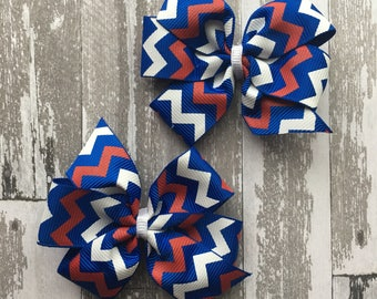 Fourth of July Hair Bow- 4th of July Hair Bow - July 4th Hair Bow - July 4Th bow- Fourth of July Bow