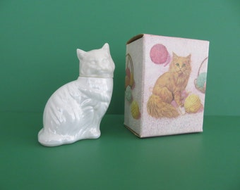 On Sale Old Avon Kitten Little Bottle with Box