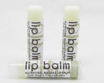 Natural Honey Lip Butter Balm - Handmade Lip Balm with Shea Butter, Cocoa Butter, and Aloe | Lip Butter | Lips | Natural Lip Balm