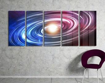 Milky Way Galaxy Wall Art Metal Print Decor Ready to Hang
