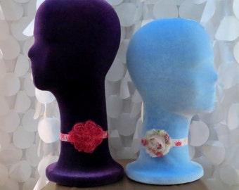 Styrofoam, Wig Head, Contoured FABRIC COVER, Made in USA