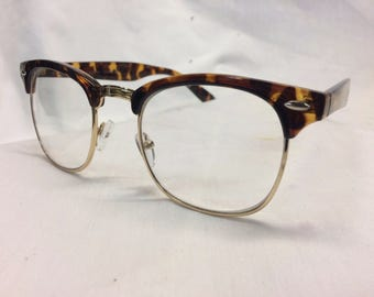 New Made To Order Custom Clubmaster Browline Madman Eyeglasses Tortoise Shell Clear