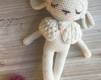 Sheep crochet- Amigurumi - MADE to ORDER - crochet stuffed animal, sheep baby doll, baby gift, amigurumi sheep toy, sheep nursery, XMas gift