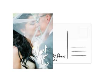 Thank You Cards Printable Photo Thank You card Template PDF DIY Wedding Postcard