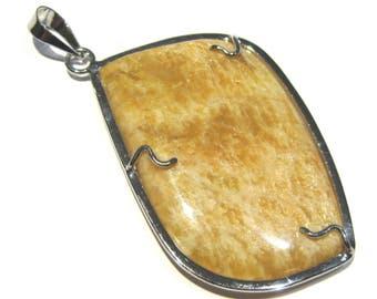 silver pendant feldispath
