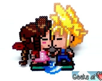 Cloud and Aerith Final Fantasy 7 VII Kissing Gamer Wedding Cake Topper Decorations