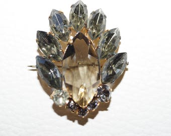 Great 60s Rhinestones Brooch Vintage