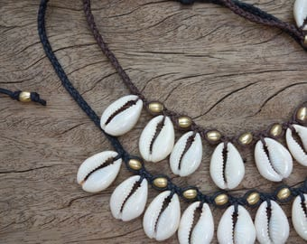 Cowrie Shell Choker Necklace, Sea Shell Necklace, Cowrie Shell Necklace, Shell Necklace, Sea Shell Choker, African necklace, Cowrie Jewekry