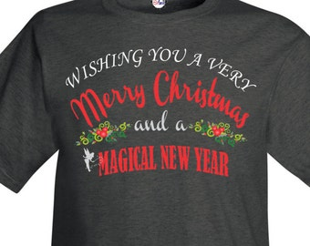 Men's Wishing You A Very Merry Christmas At Disney T-Shirt