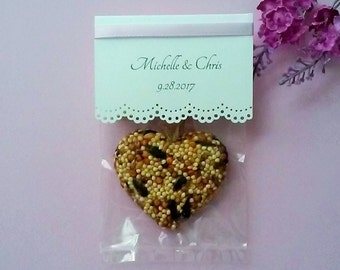 25 Large Birdseed Hearts - Wedding Lace