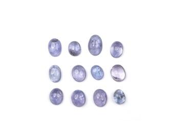 Oval Tanzanite Cabochons - Loose Tanzanite - Oval Tanzanite - Tanzanite Stones - Polished Tanzanite - Natural Tanzanite - Loose Gemstones