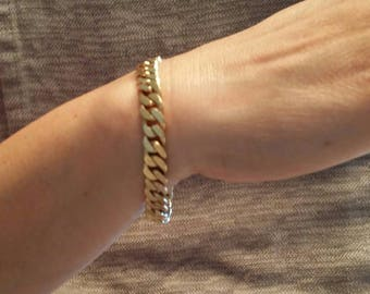 Vintage 14k gold very heavy bracelet European
