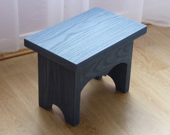 Solid Ash Stool,Painted Furniture,Ash Furniture,Small Wooden Stool,Childrens Furniture,Wedding Gift,New Home Gift,