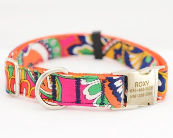 Dog Collar with Personalized Buckle,Fabric 67
