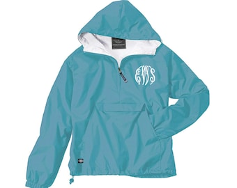 Monogrammed Pullover - Monogrammed Lined Pullover - Charles River Classic Pullover - Sorority Pullover - Personalized Pullover - Rain Jacket