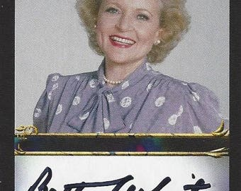 Legendary Actress Betty White AUTOGRAPHED Custom Trading Card
