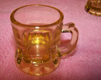 Beer Mug Shot Glasses  --  5 in all