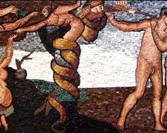 Roman Wall Painting Mosaic Reproduction
