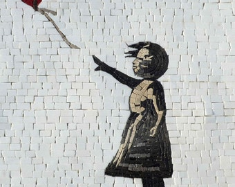 Banksy Mosaic Reproduction -  Girl with a Balloon