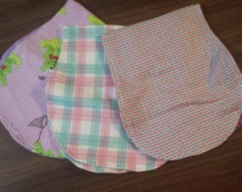 Burp cloth set of 3 for baby