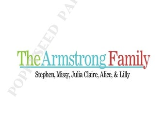 Personalized family note cards- Thank You Notes- Personalized folded note cards, stationery