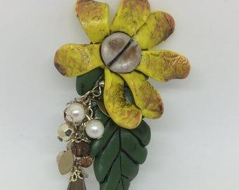 Steampunk flower broach